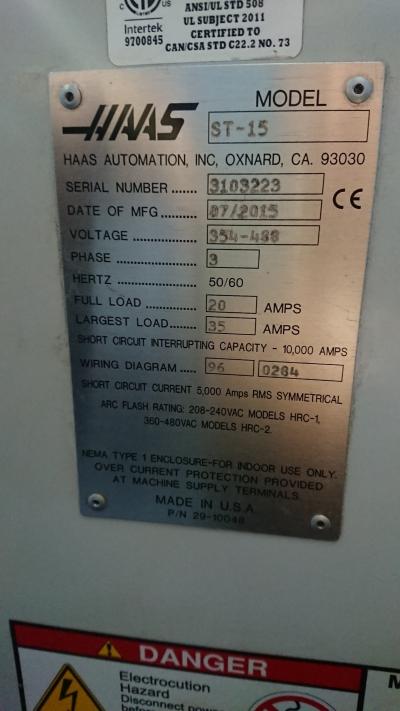 Токарный станок с ЧПУ HAAS ST-15